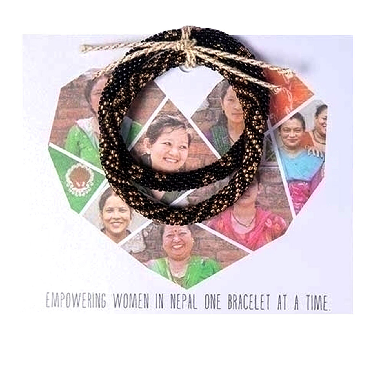 Fair Trade Black and Gold Bracelet from Nepal