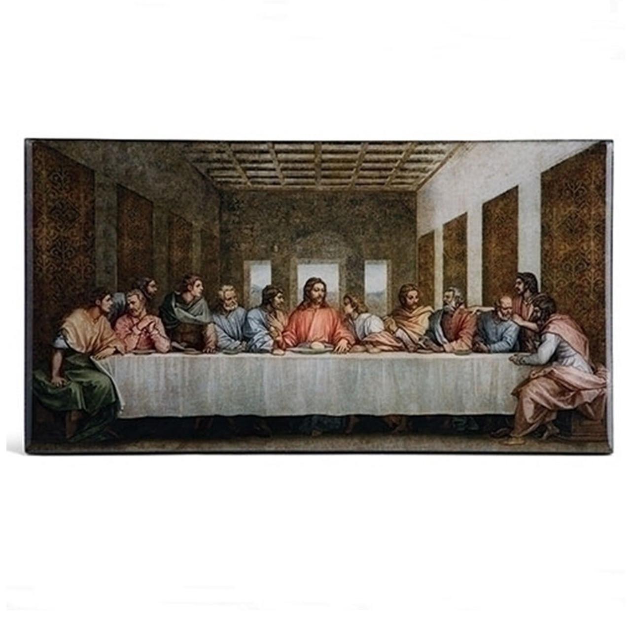Last Supper Epoxy Plaque 4 IN Tall