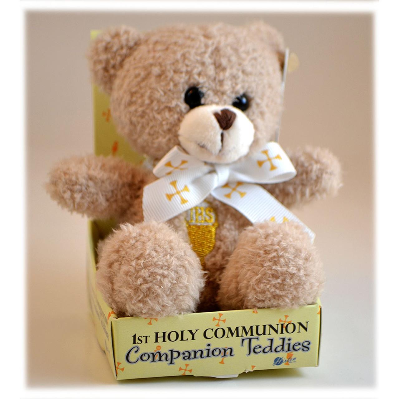 Communion Teddy Bear Lt Brown