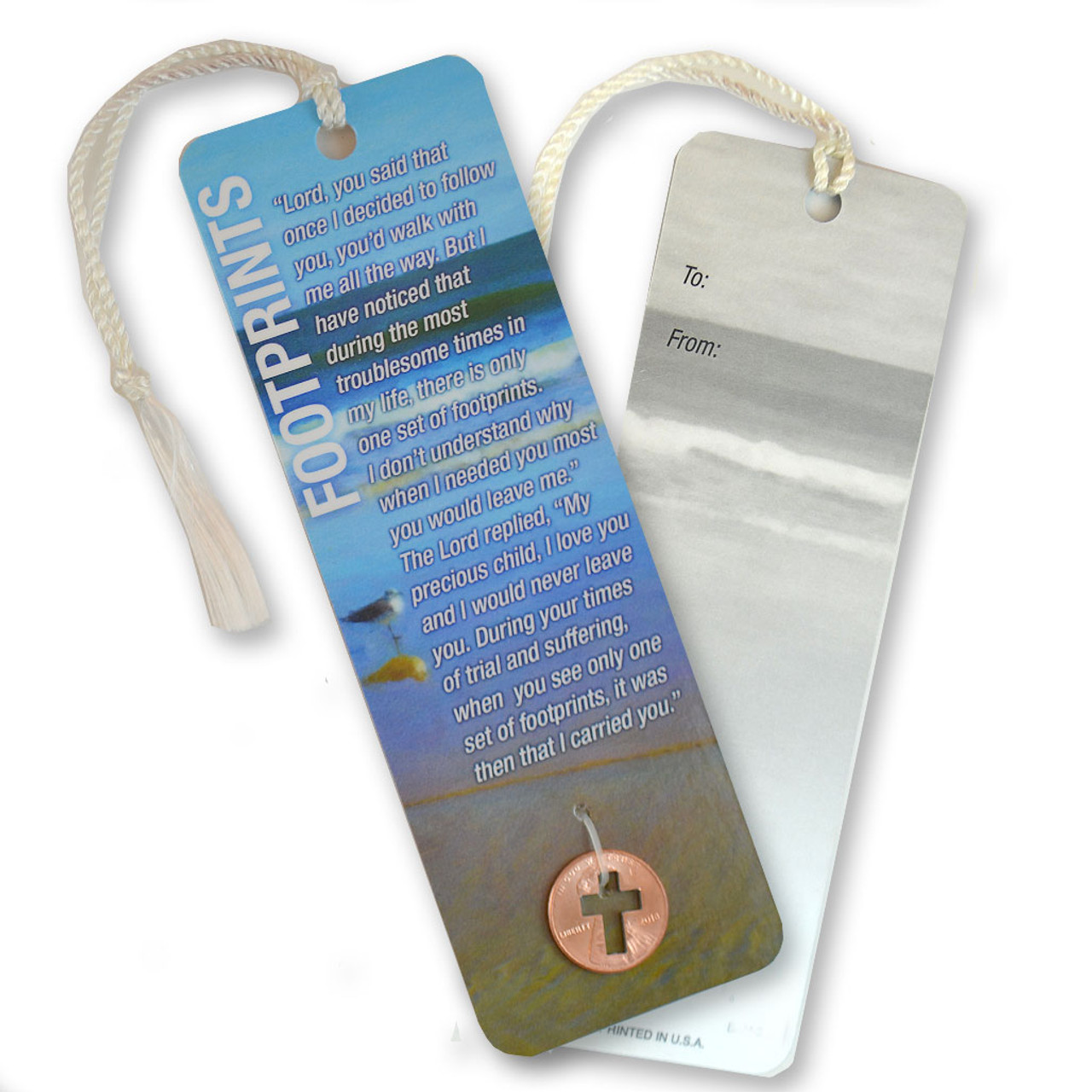 Footprints Bookmark with Coin