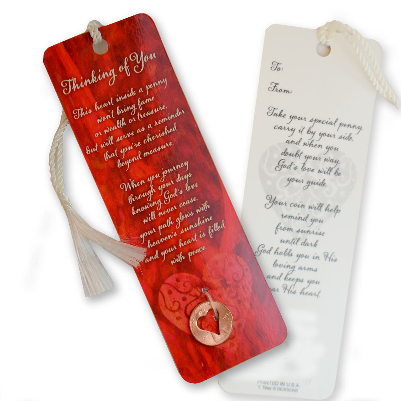 Thinking of You Bookmark with Coin