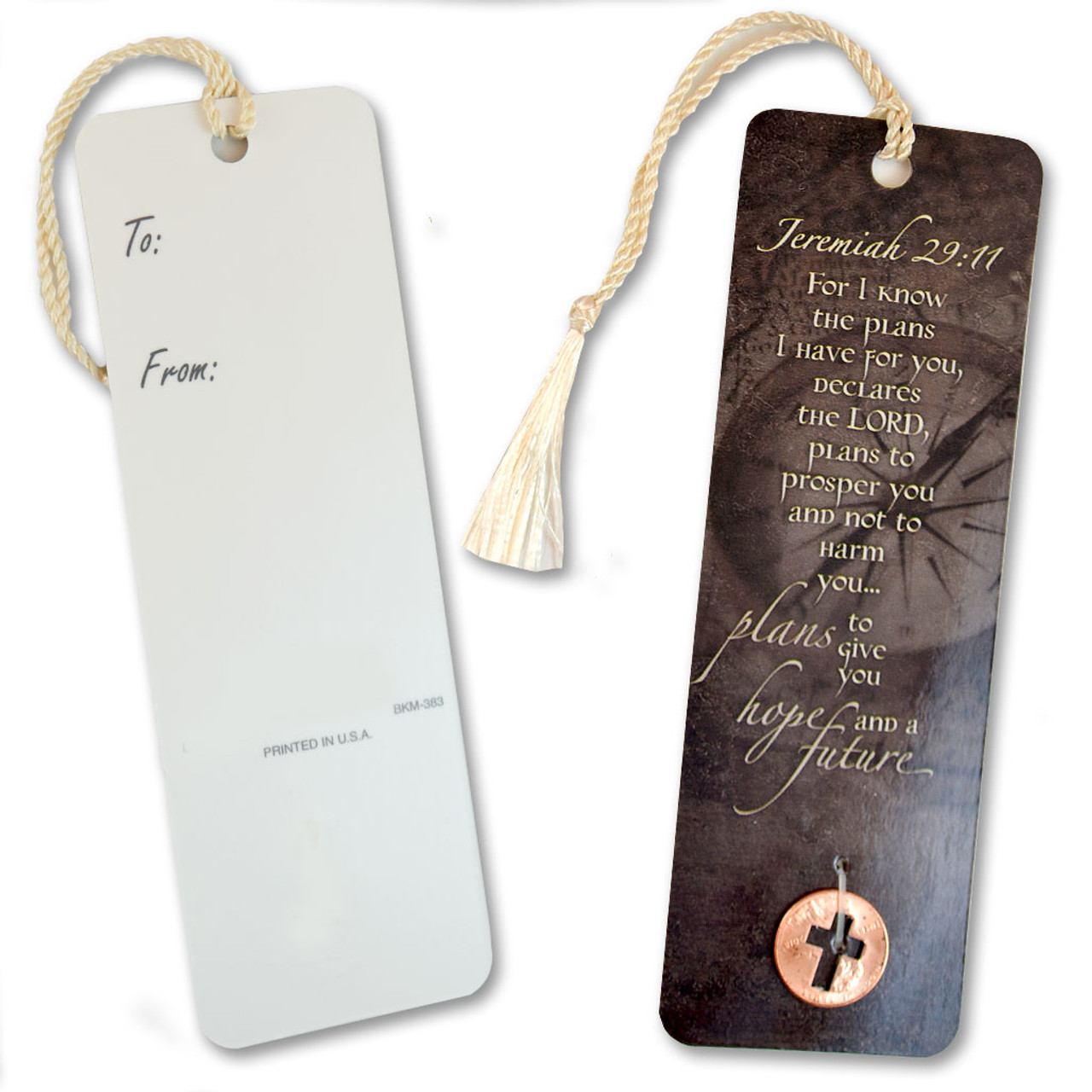 Jeramiah Bookmark with Coin
