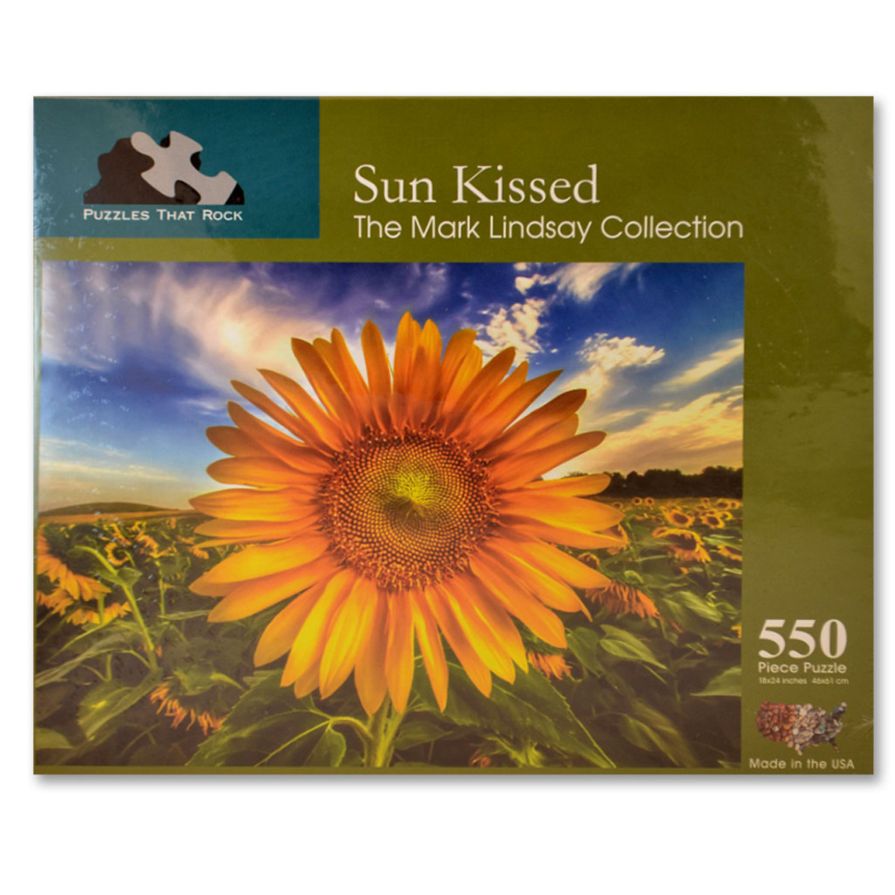 Sun Kissed Sunflower Jigsaw Puzzle