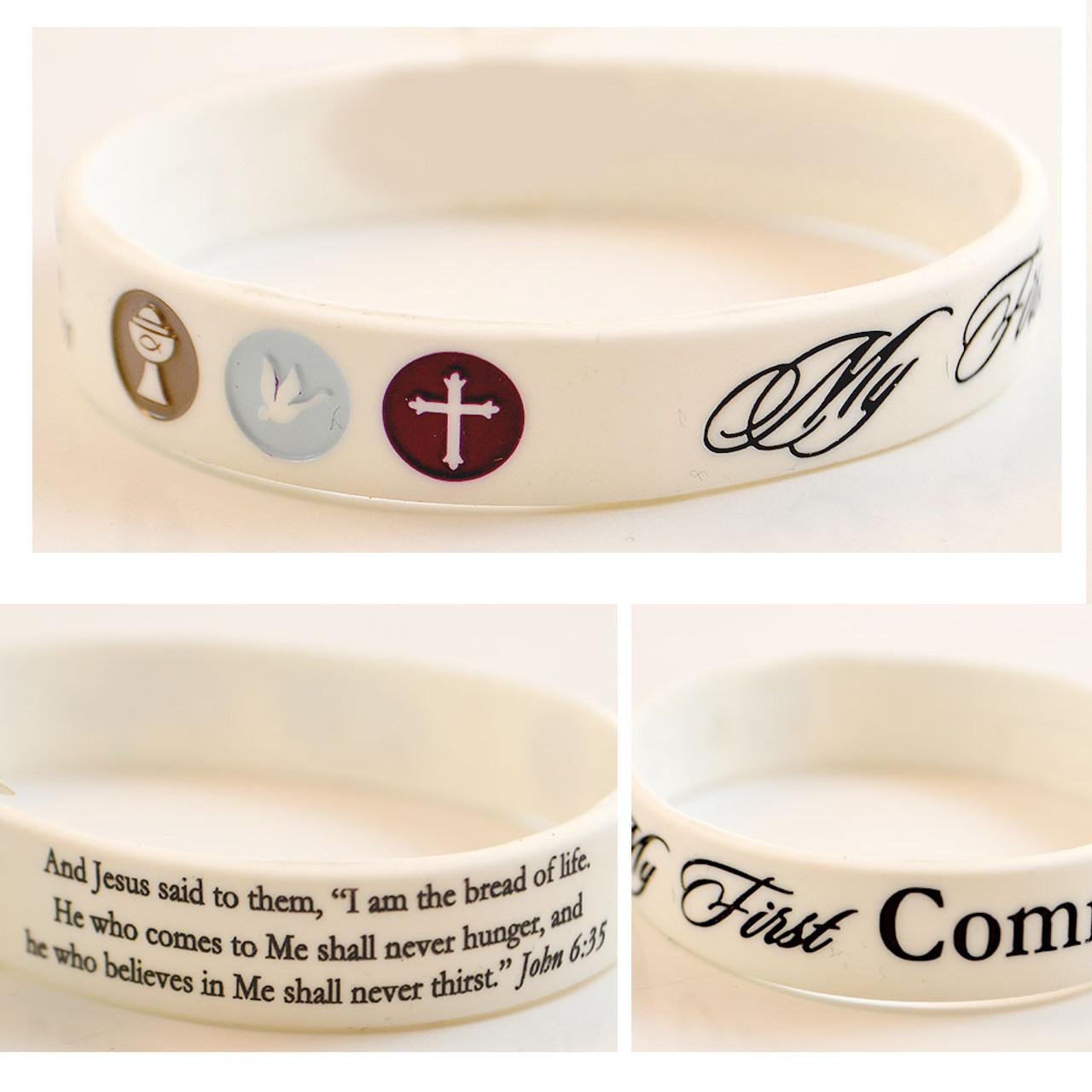 Silicon First Communion Bracelet