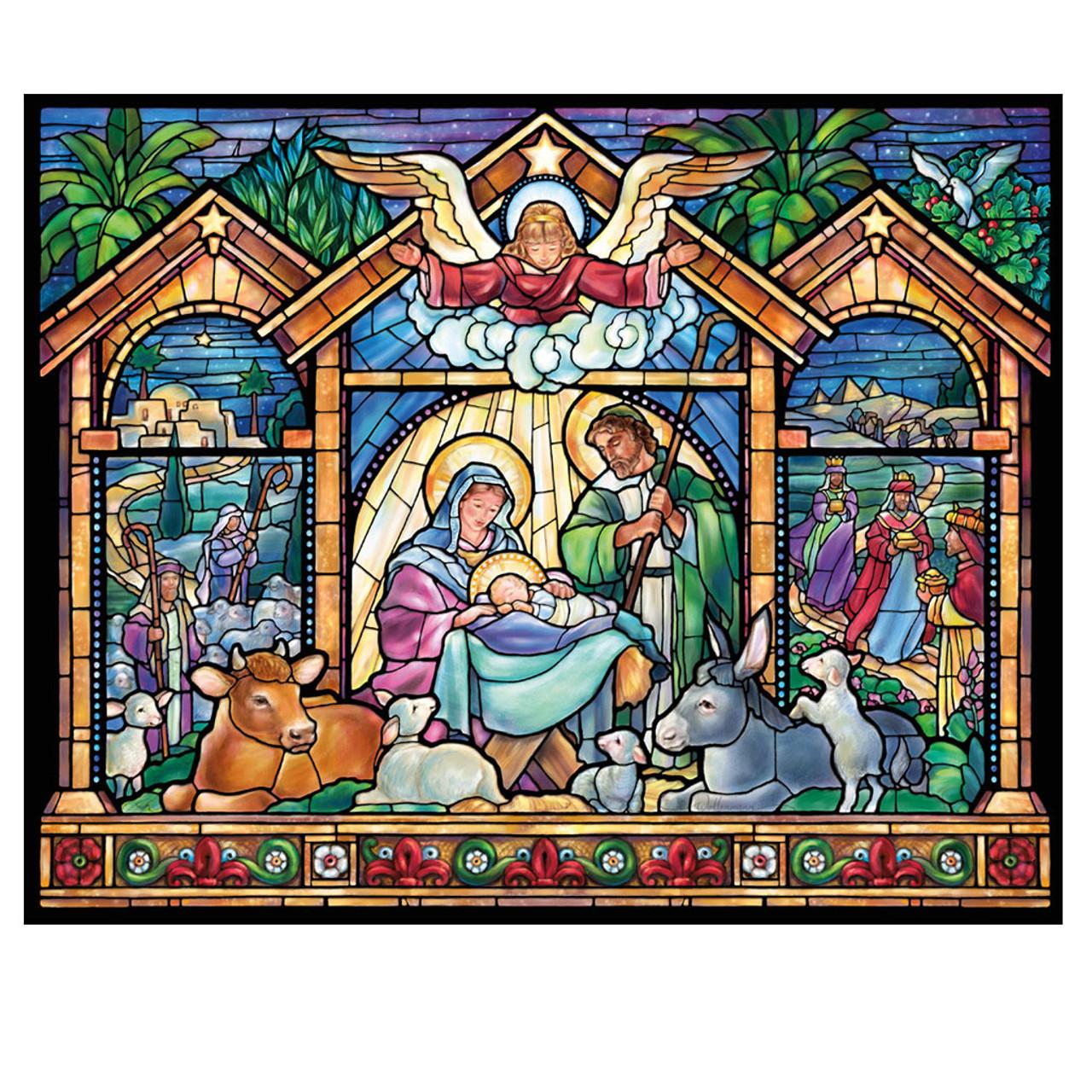 Stained Glass Nativity Jigsaw