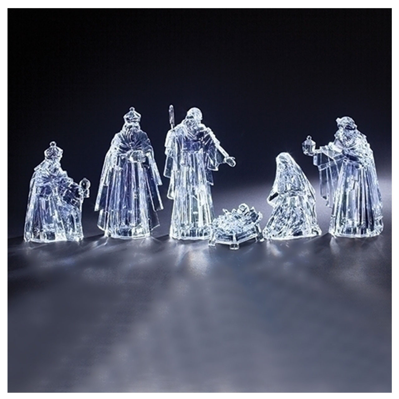 6pc Nativity Set in Acrylic
