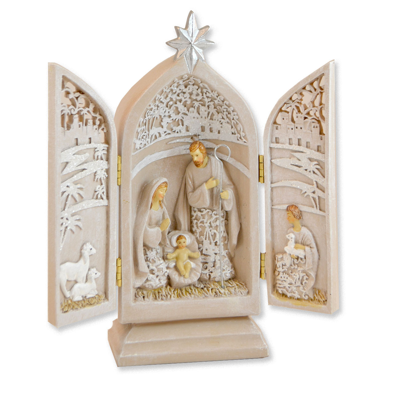 Holy Family Triptych 8.5 IN