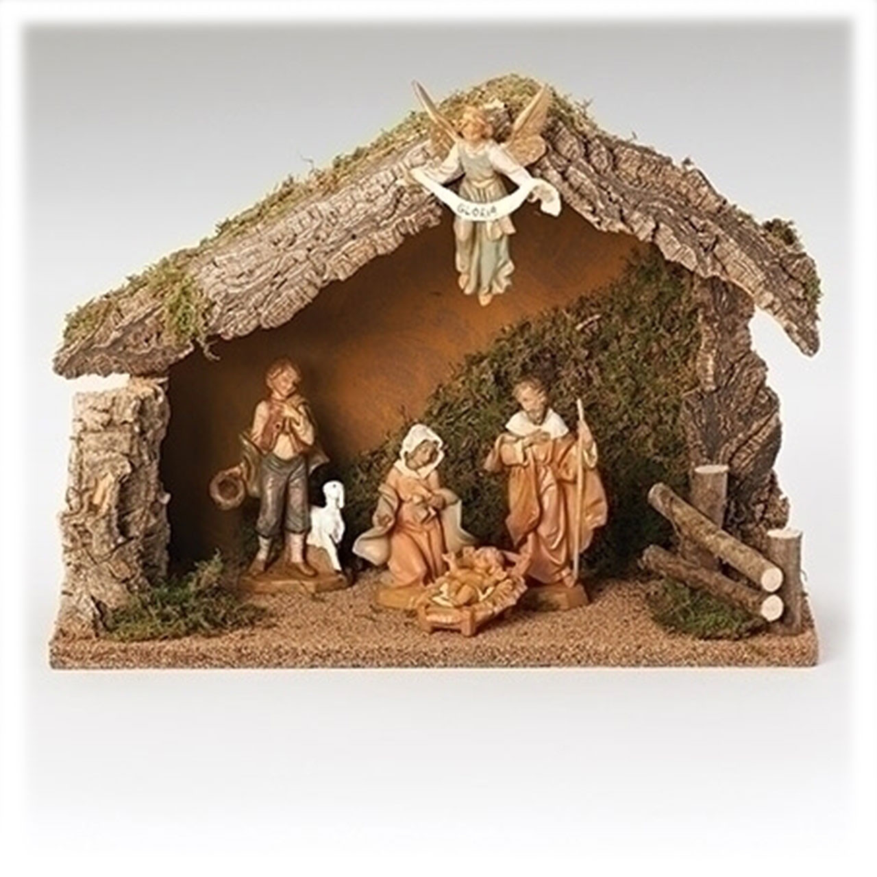5pc Fontanini Nativity Set with Stable & Figures