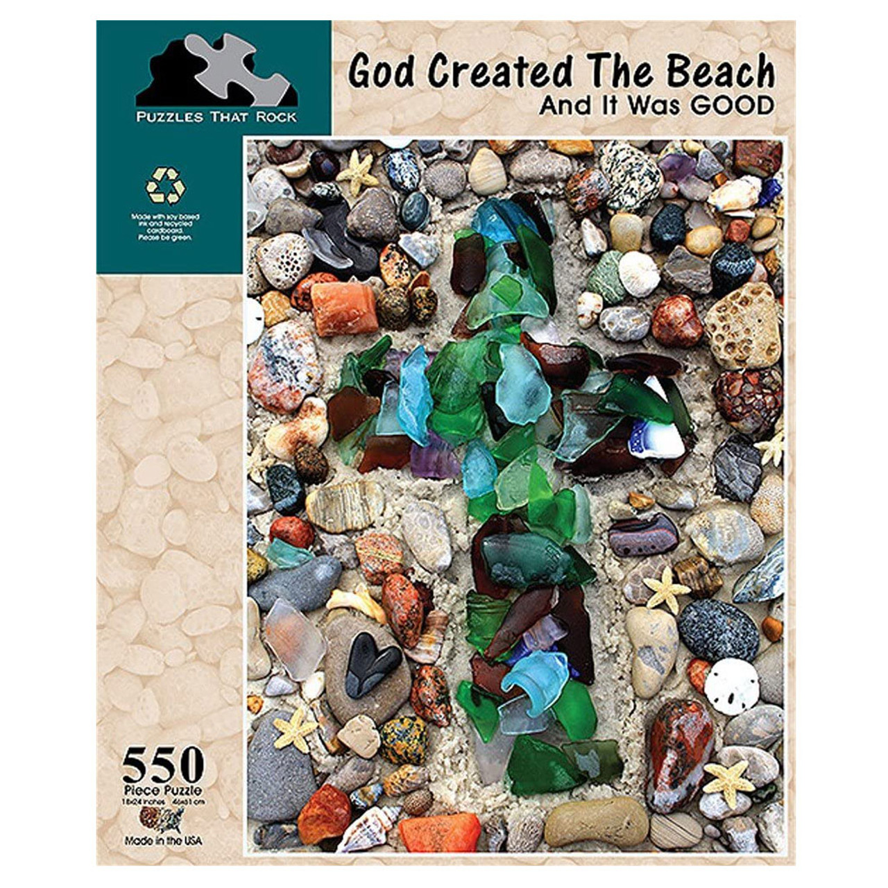 God Created the Beach Jigsaw Puzzle