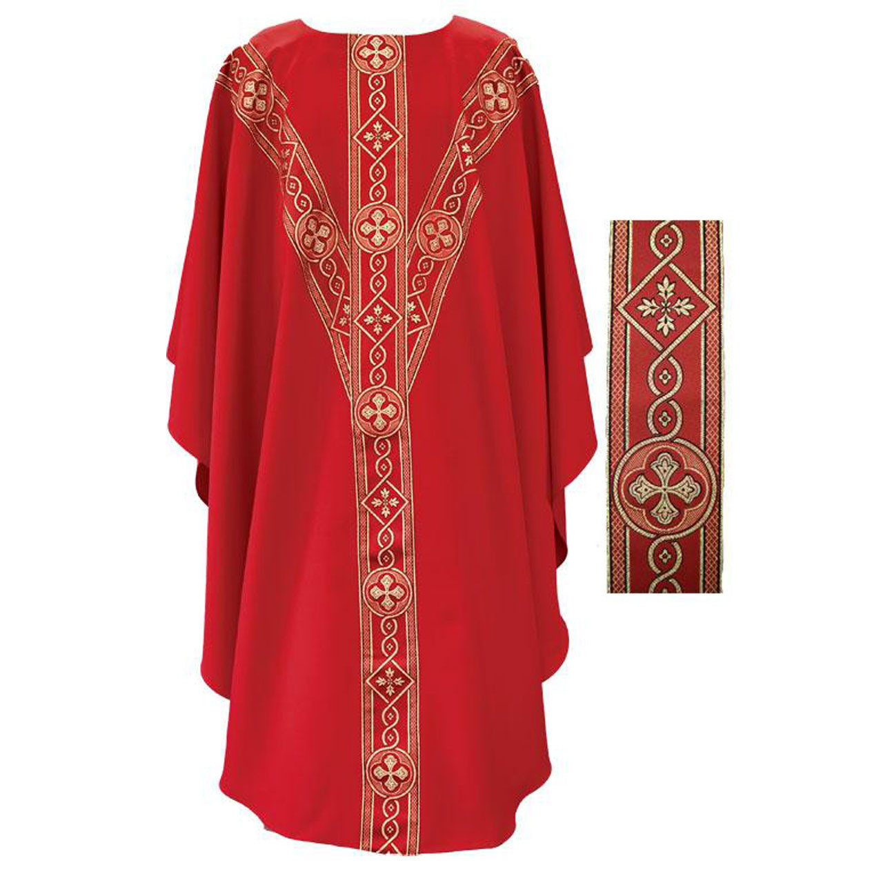 2144R Chasuble Red