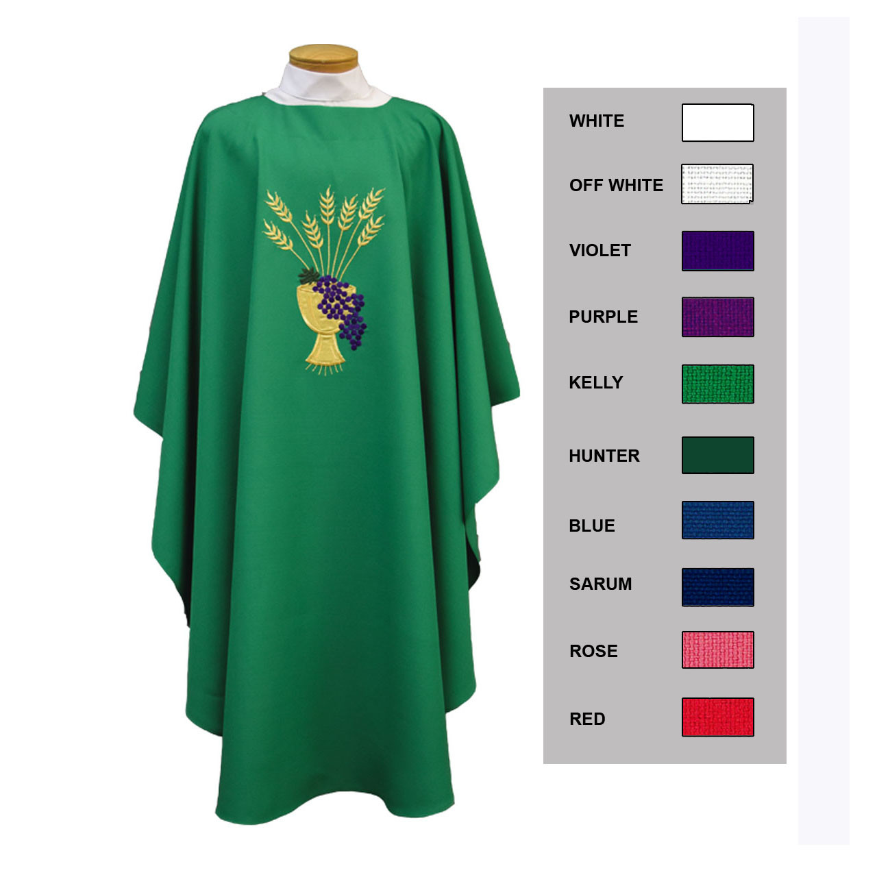 873A Chasuble Green