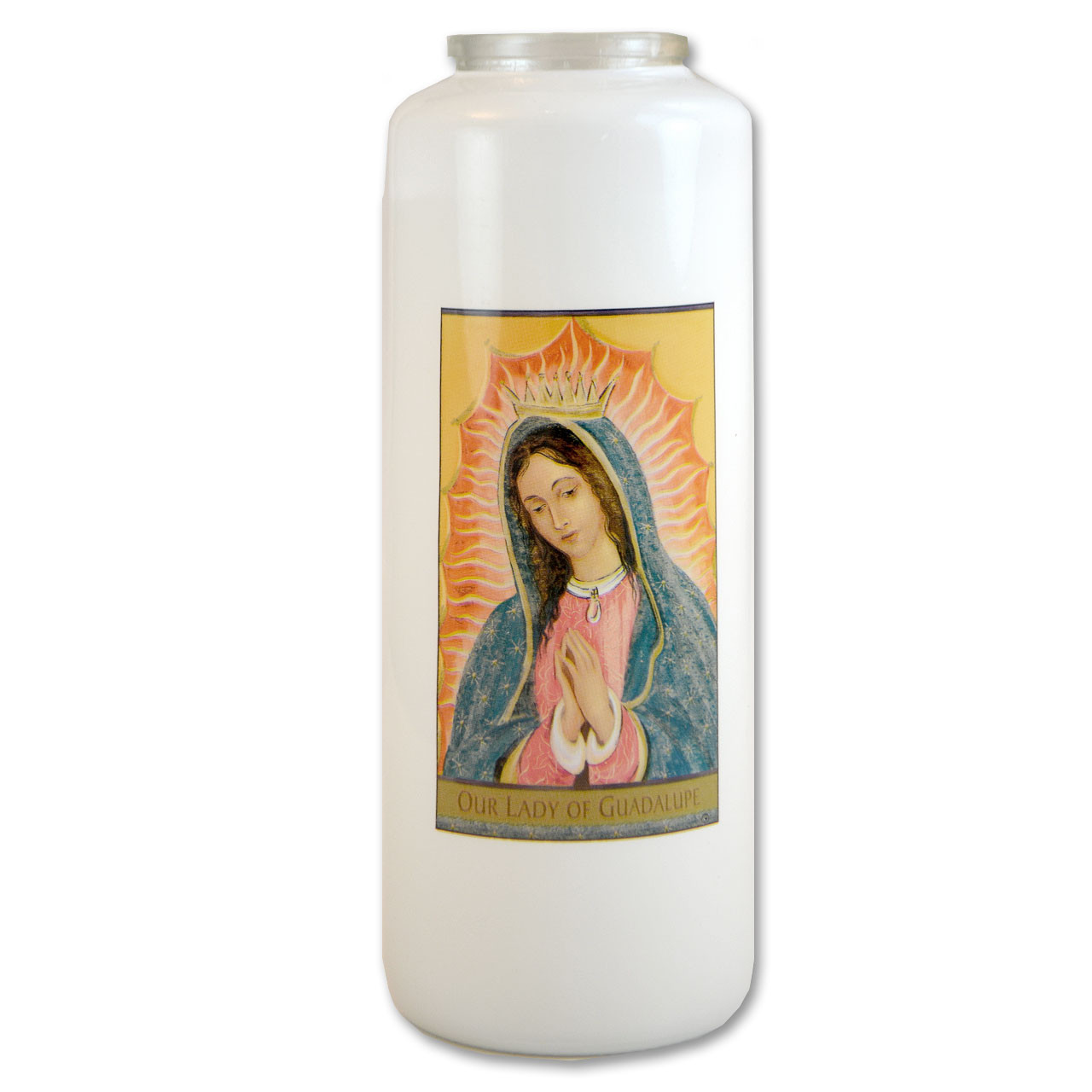 Our Lady of Guadalupe Votive Candle - 6 day
