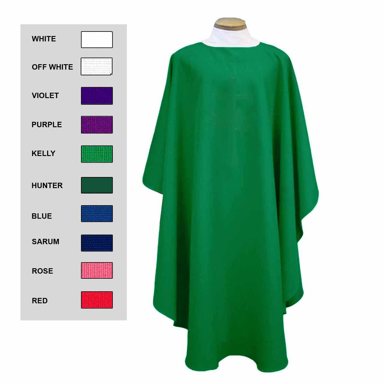 856 Plain Chasuble  (Select Color Choice)