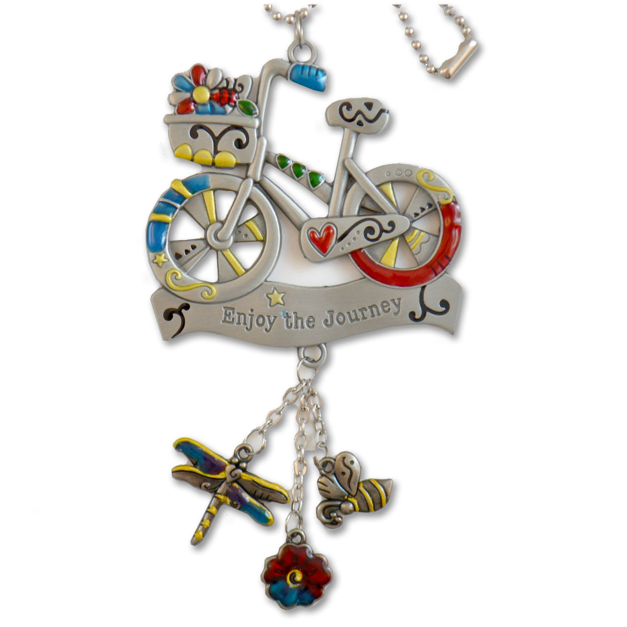 "Bicycle Charm ""Enjoy the Journey"""
