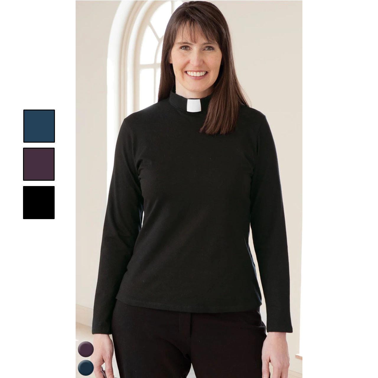 3410 Long Sleeve Knit Tab Shirt Black
