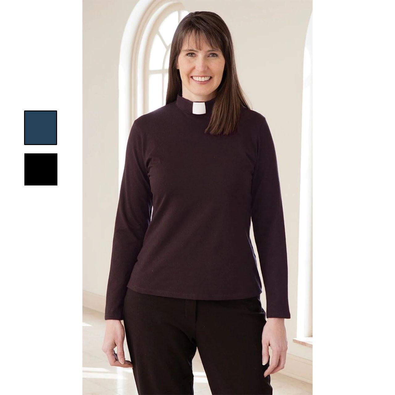 3410 Long Sleeve Knit Tab Shirt  Eggplant
