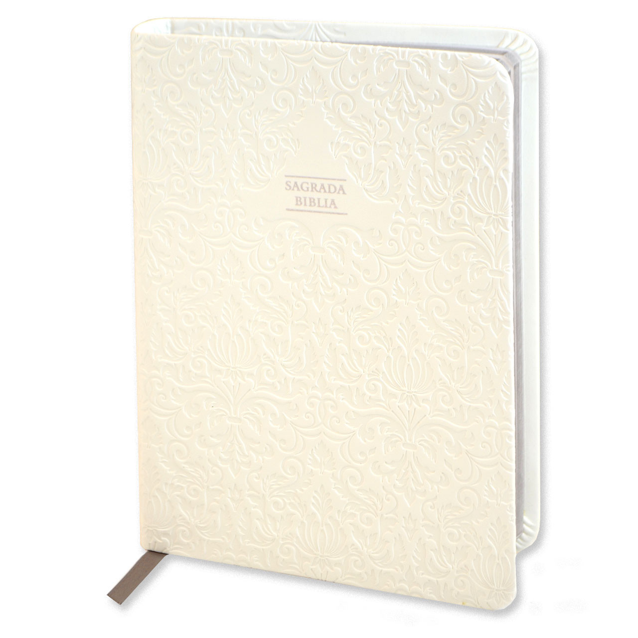Sagrada Biblia with White Cover