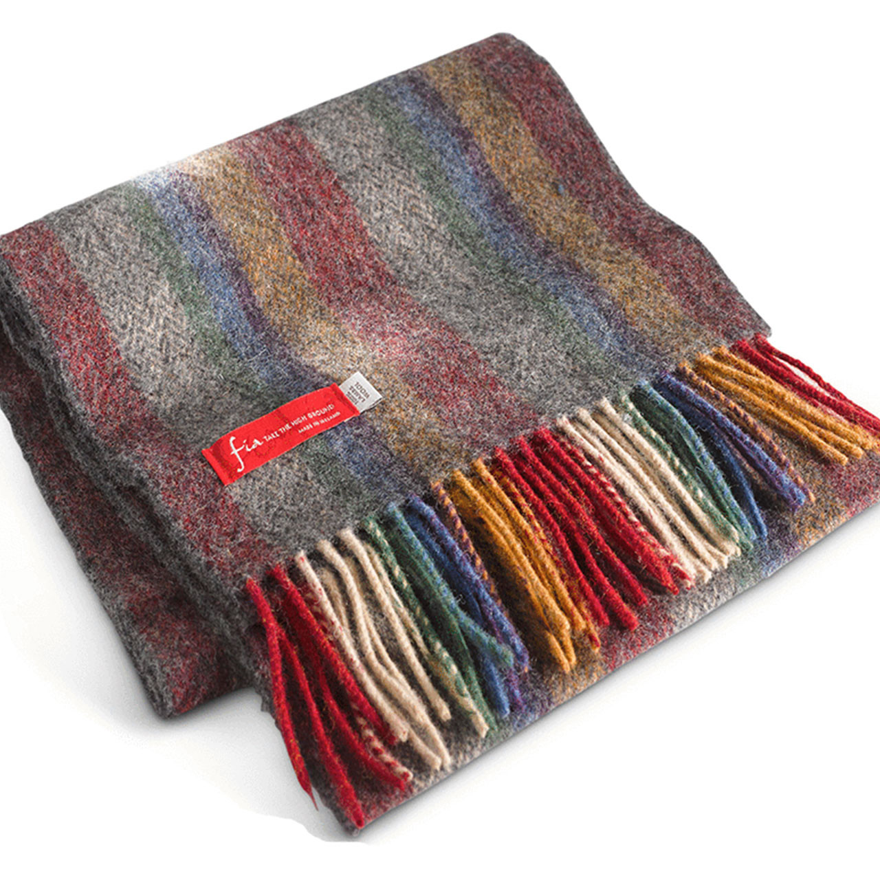 """Muin"" style Irish Lambs wools scarf by Latchford's"