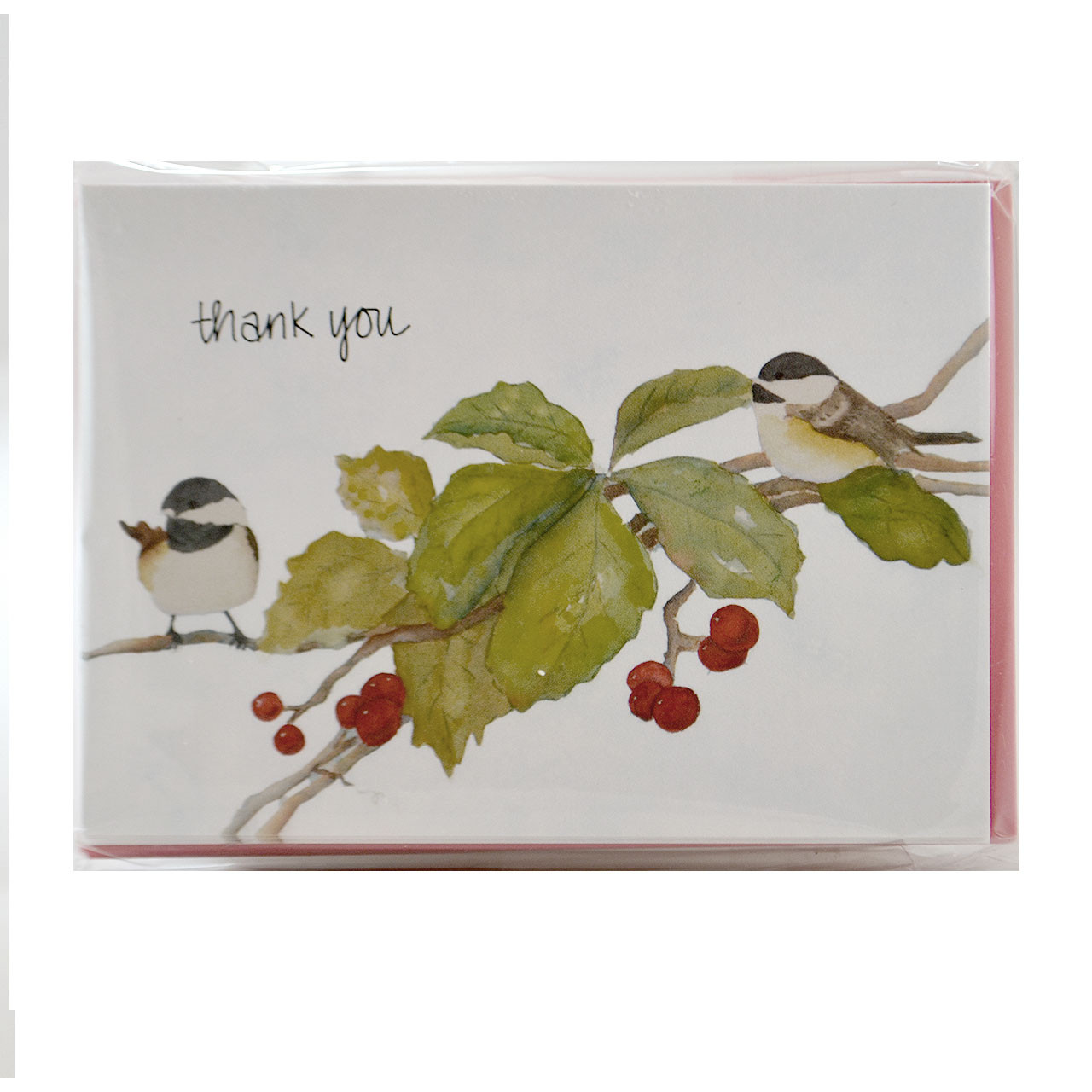 Set of Chickadee Thank You Cards
