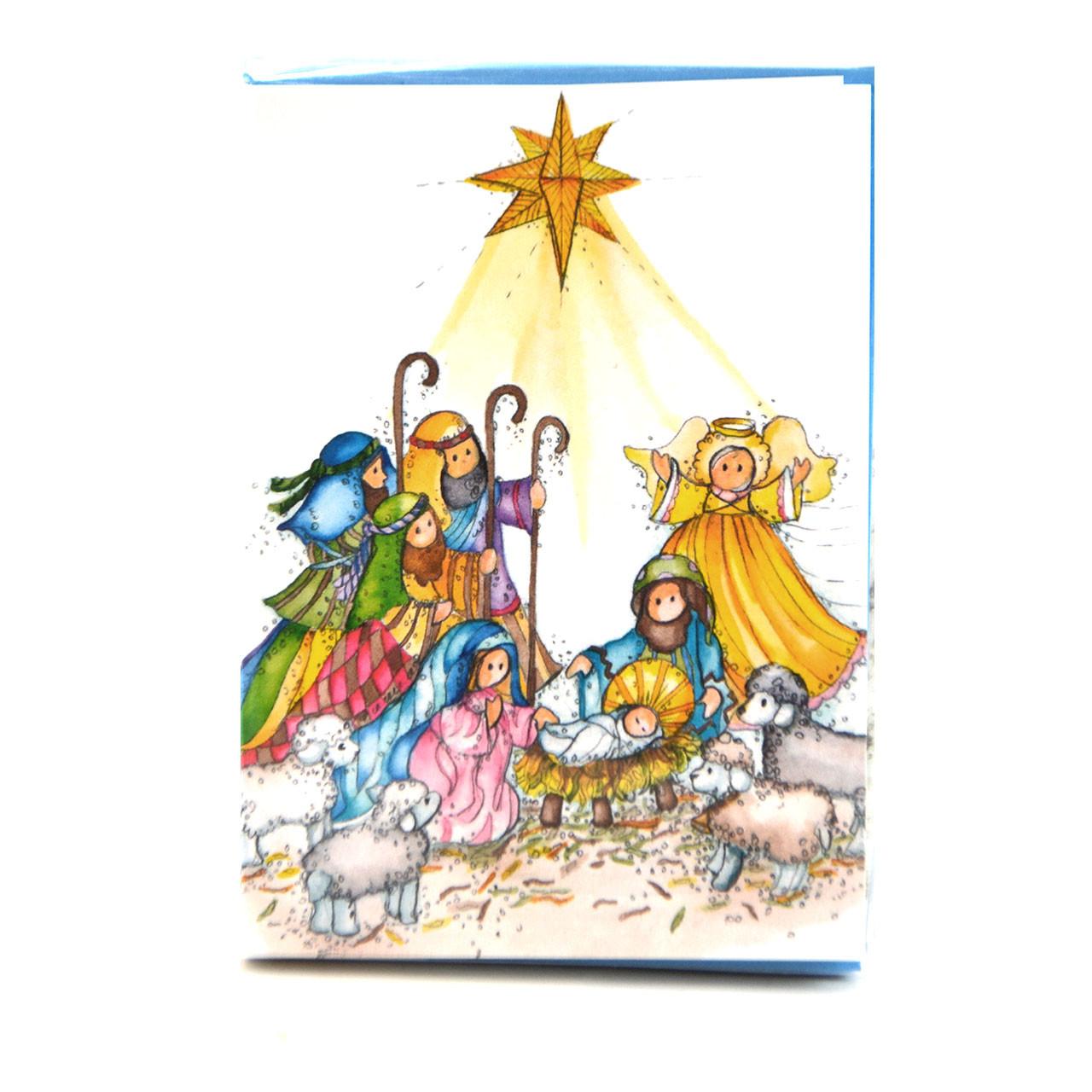 Nativity Scene Christmas Card Set