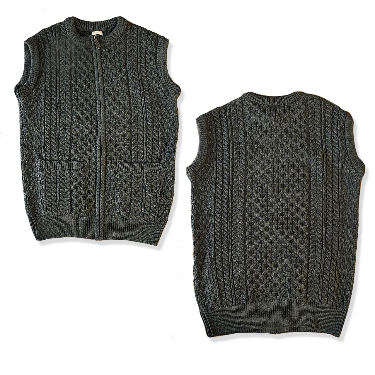 Forest Green Wool Irish Sweater Vest