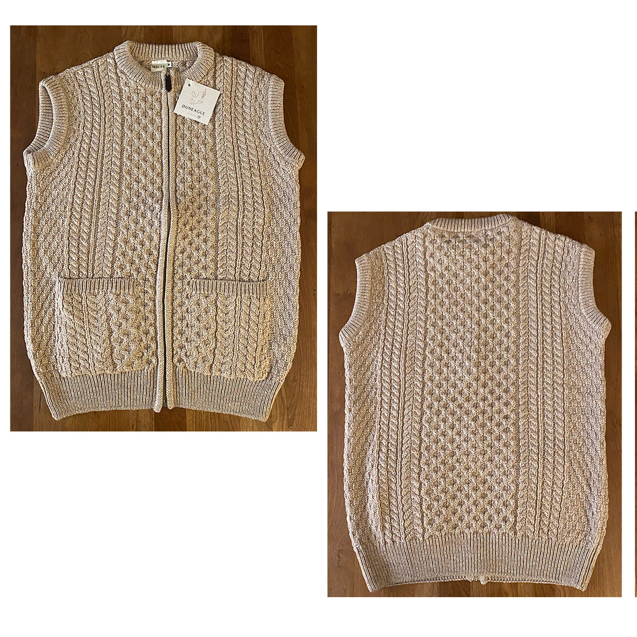Natural Wool Irish Sweater Vest
