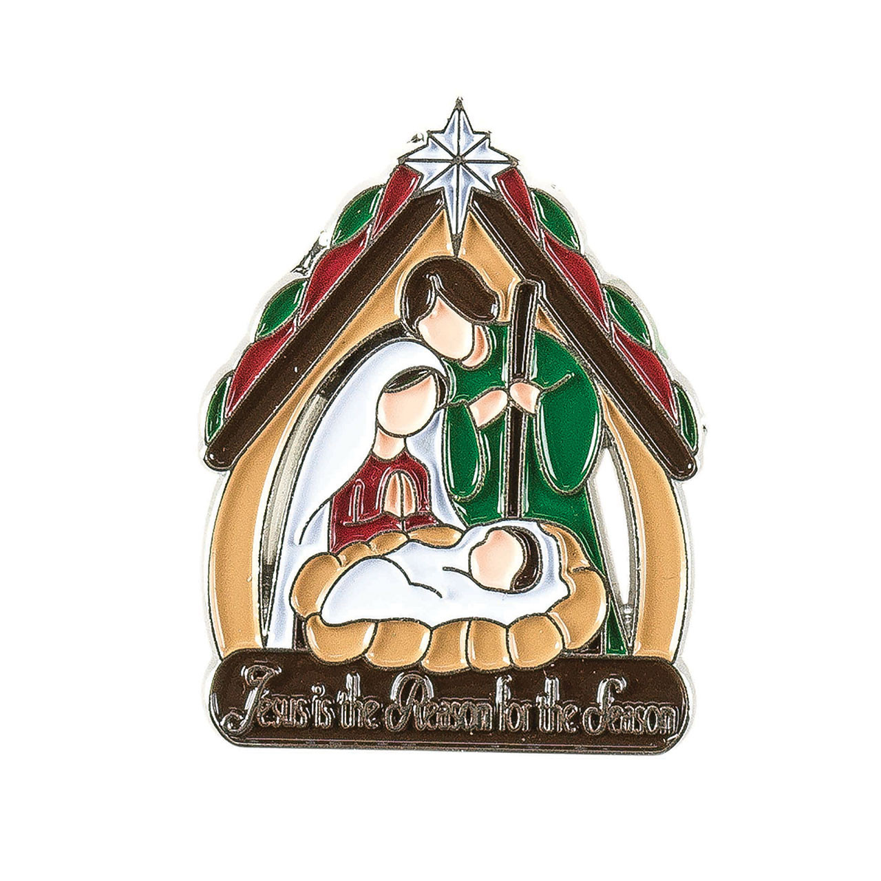 Colorful Holy Family Lapel Pin