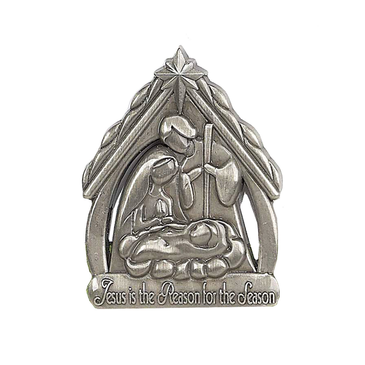 Pewter Holy Family Lapel Pin