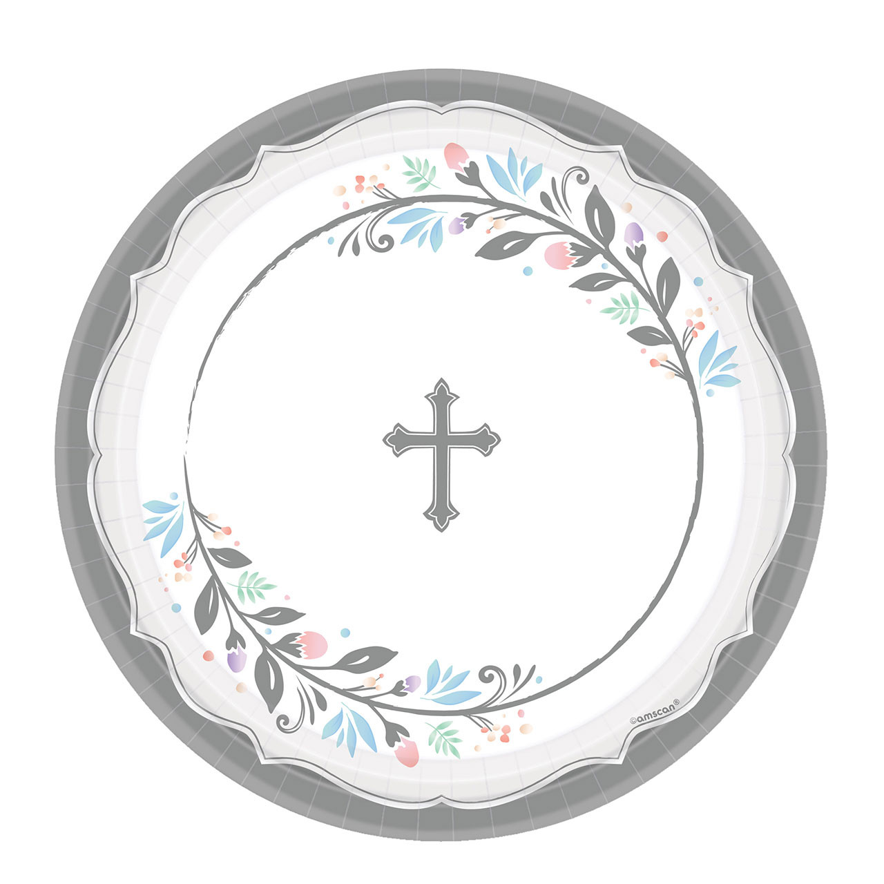 """18 qty. 10-1/2"""" Holy Day Communion Party Plates"""