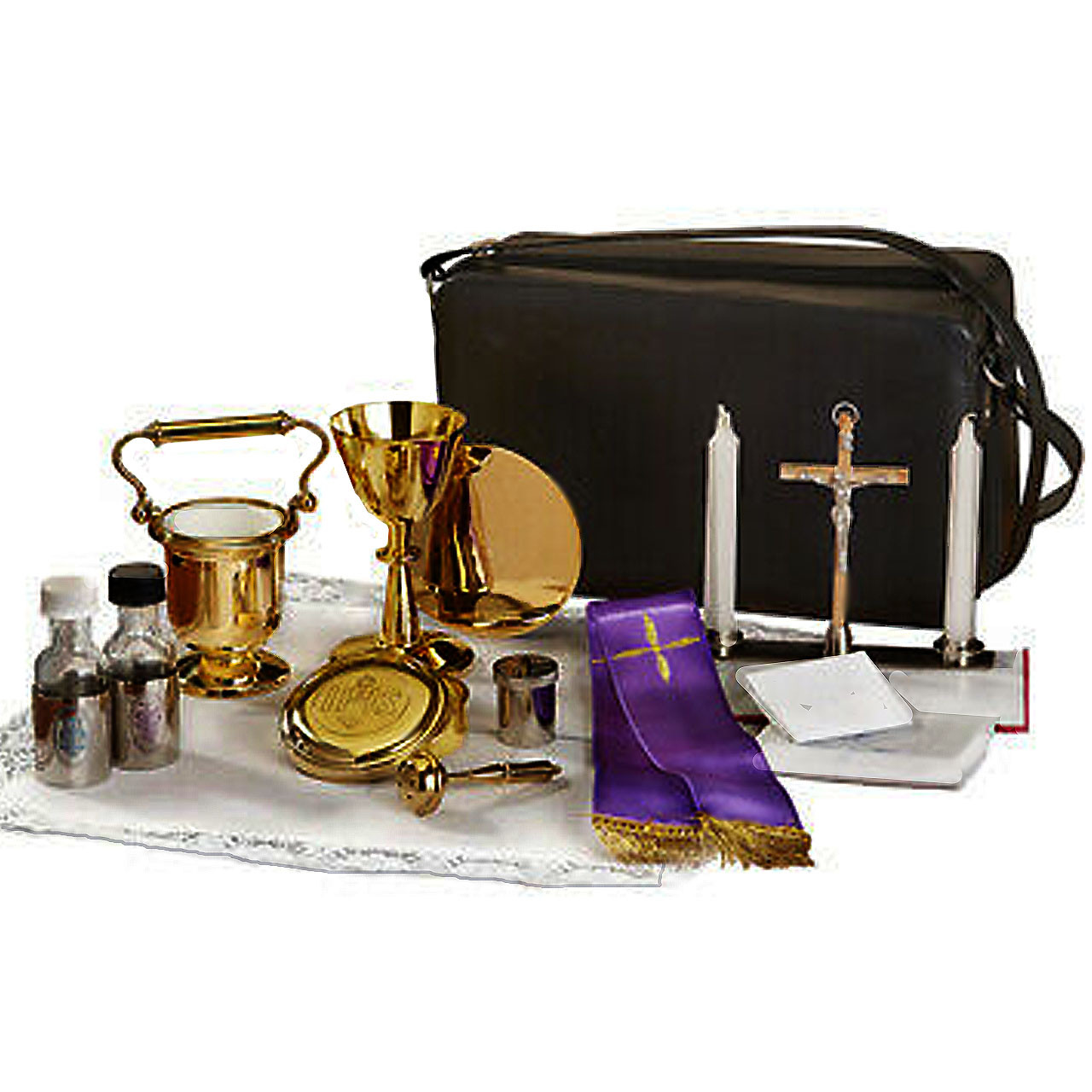 B3563 Cemetery Mass Kit with Holy Water Bucket