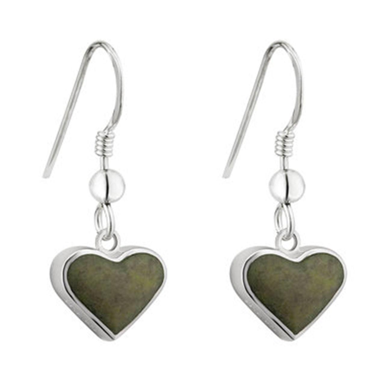 Heart Connemara Irish Earrings