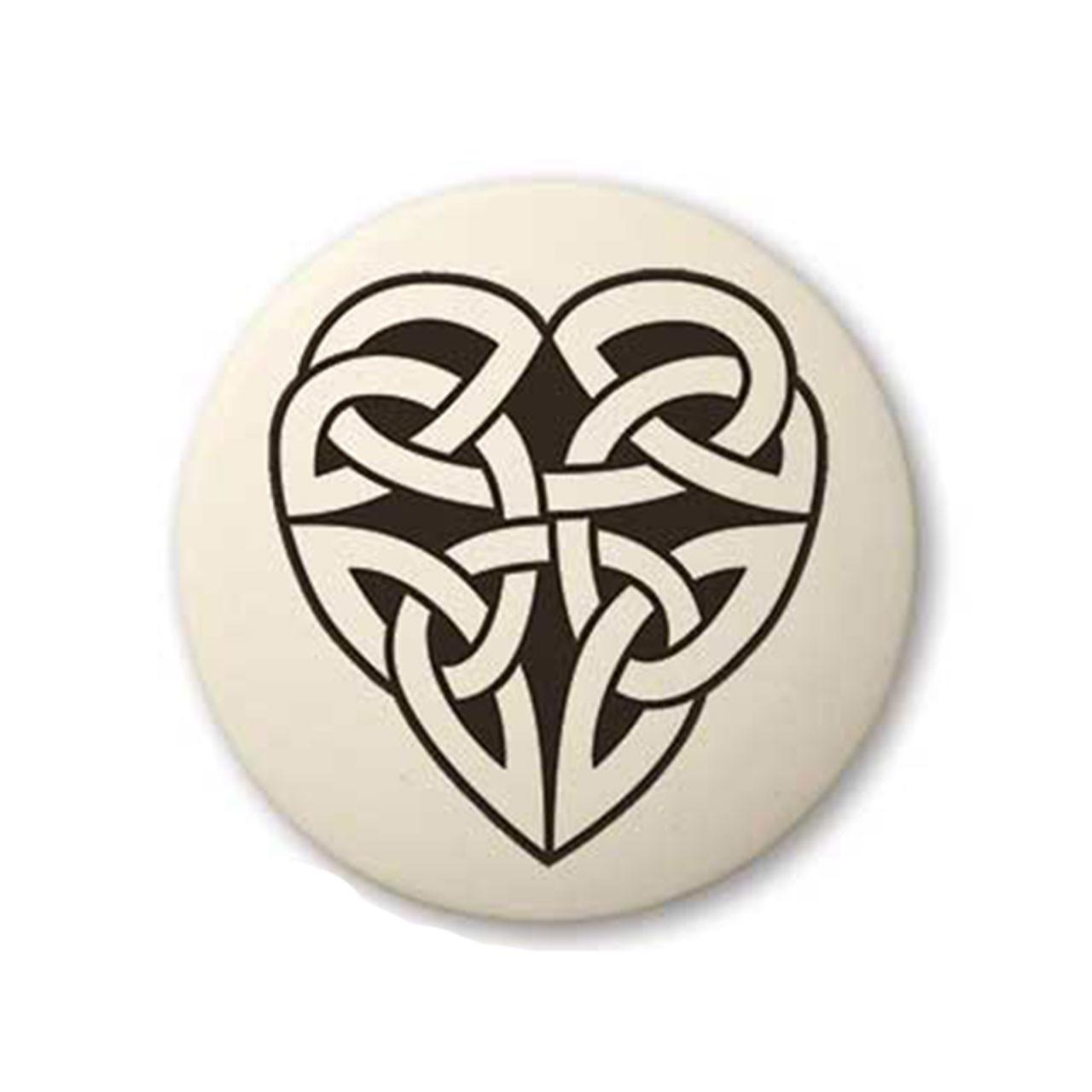 Round Celtic Heart Pendant