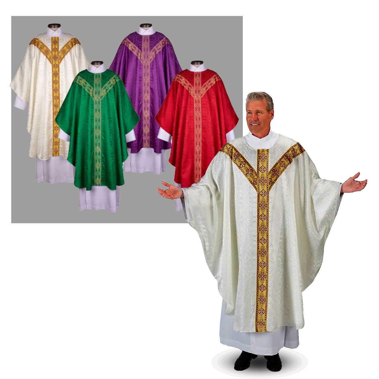 Avignon Chasuble Collection Set of 4