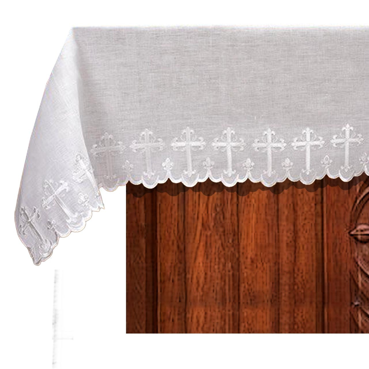 2-Sided Scallop-Edged Altar Frontal 100% Linen