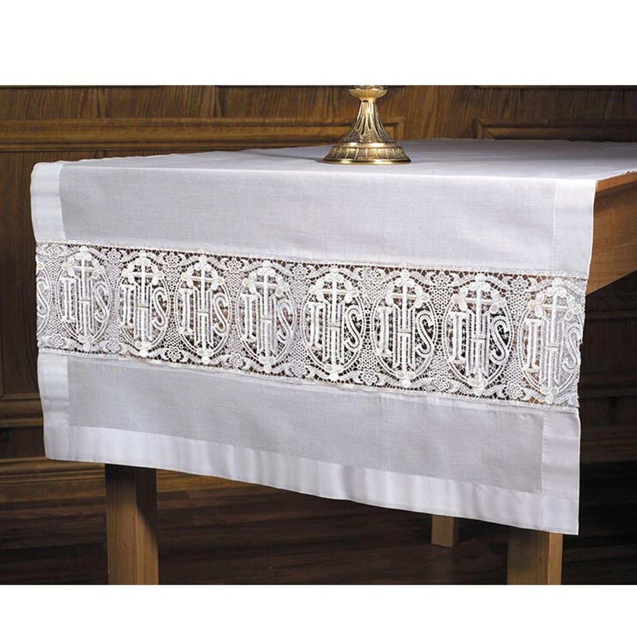 VS941 Latin Cross and IHS Altar Frontal