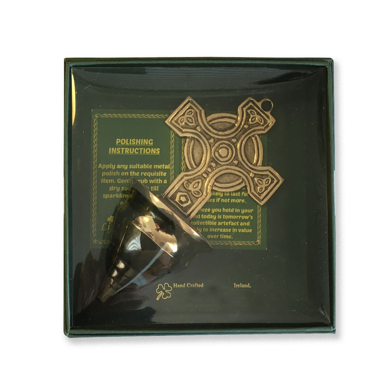 Box of Brass Celtic Cross Holy Water Font
