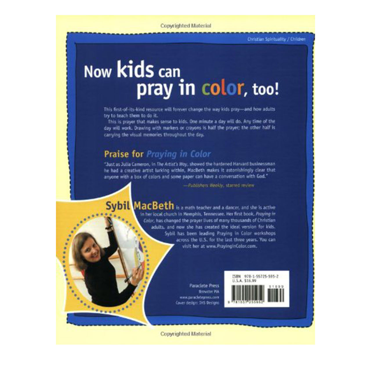 Back of Praing in Color Kid's Edition Book