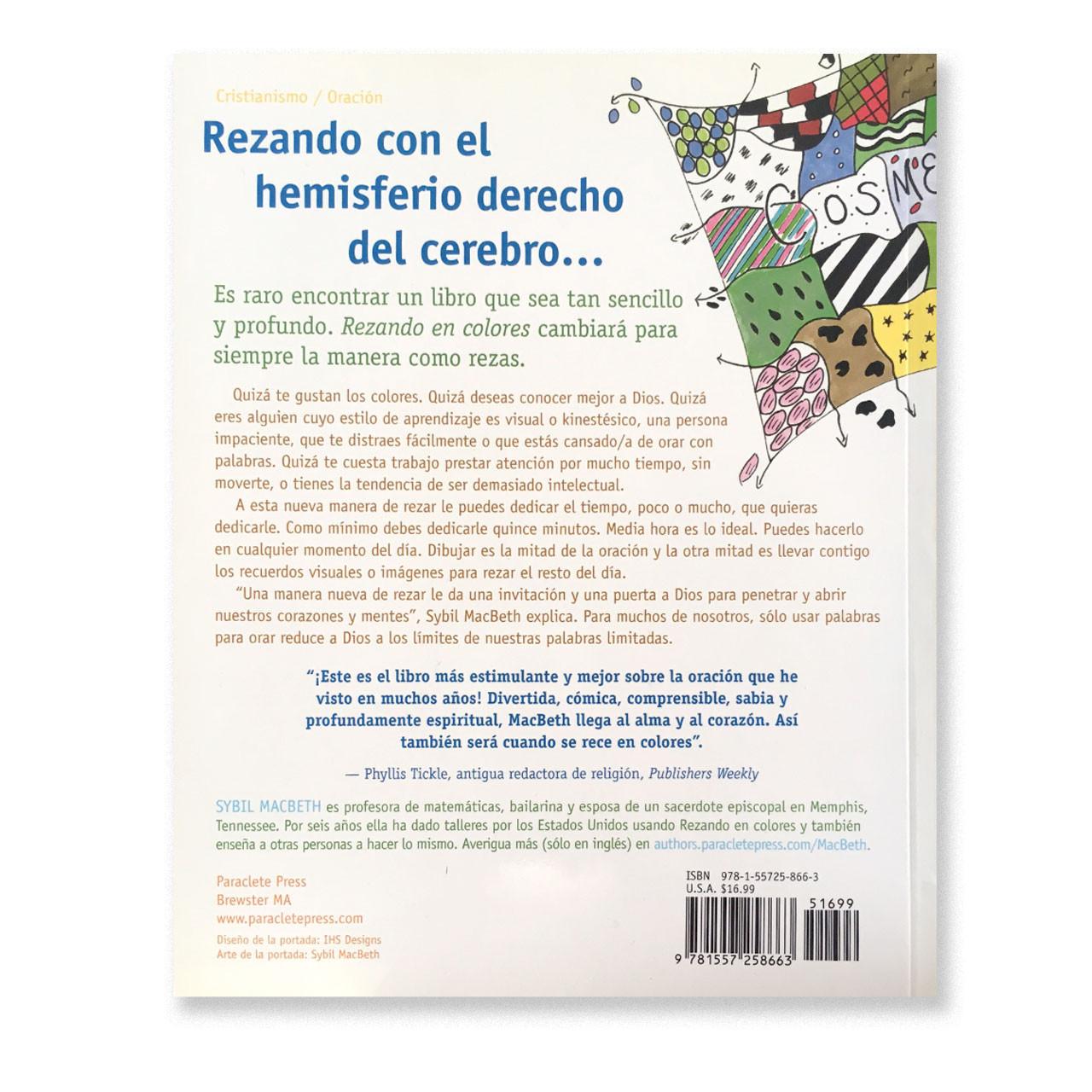 Back Cover of book Rezando En Colores