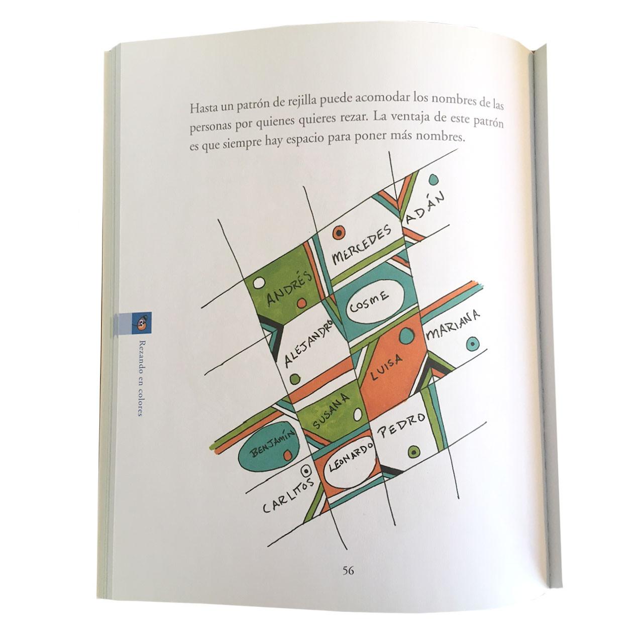 Inside page of book Rezando En Colores