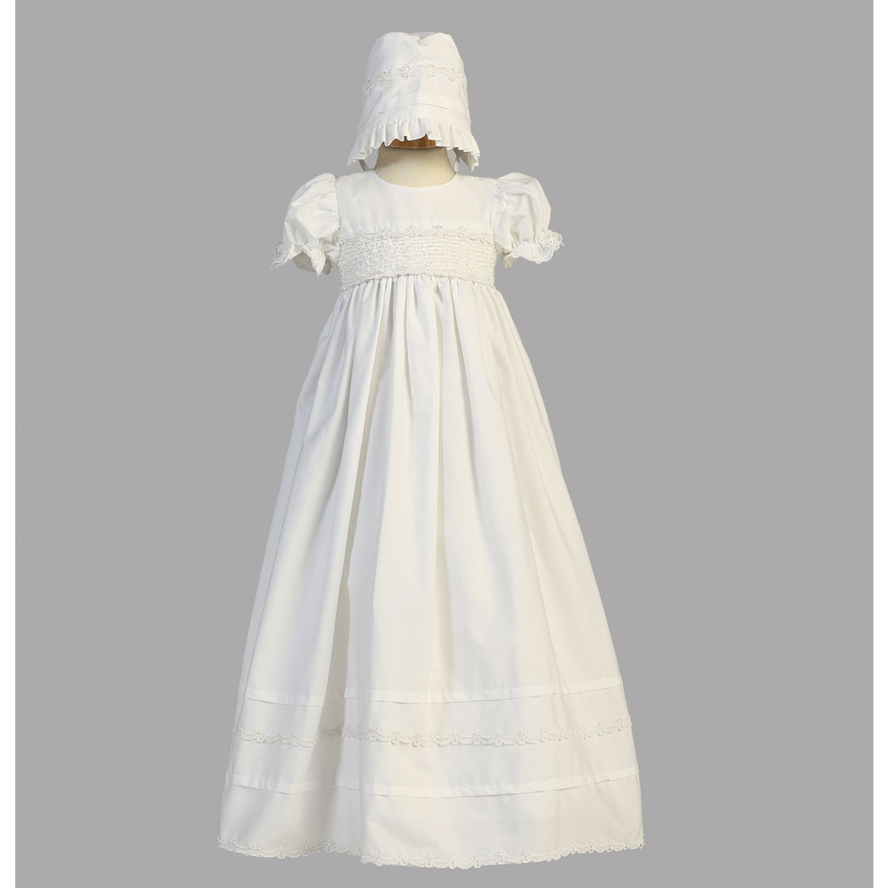 Image of Marie Cotton Christening Gown