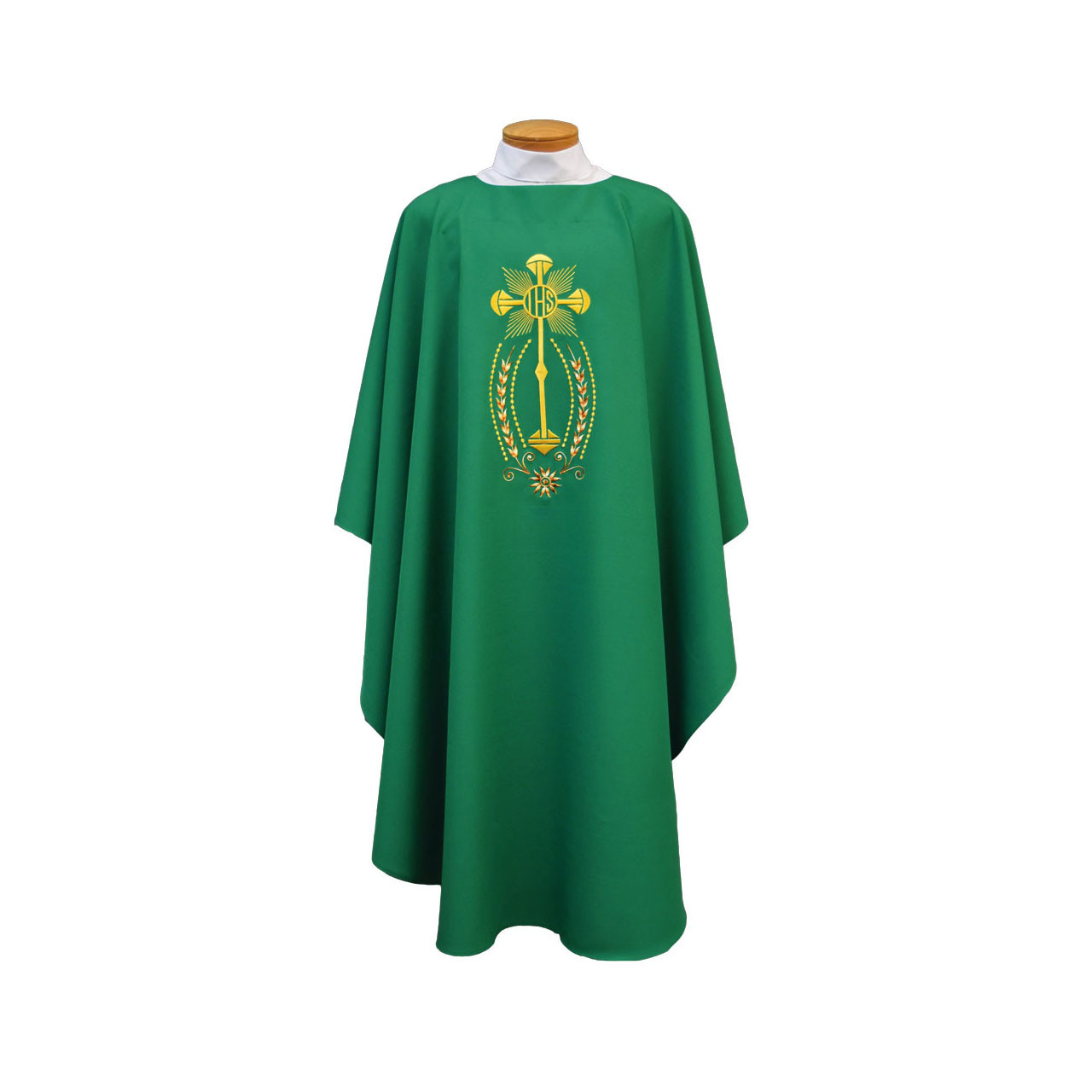 846 Chasuble w/Embroidered Monstrance and IHS