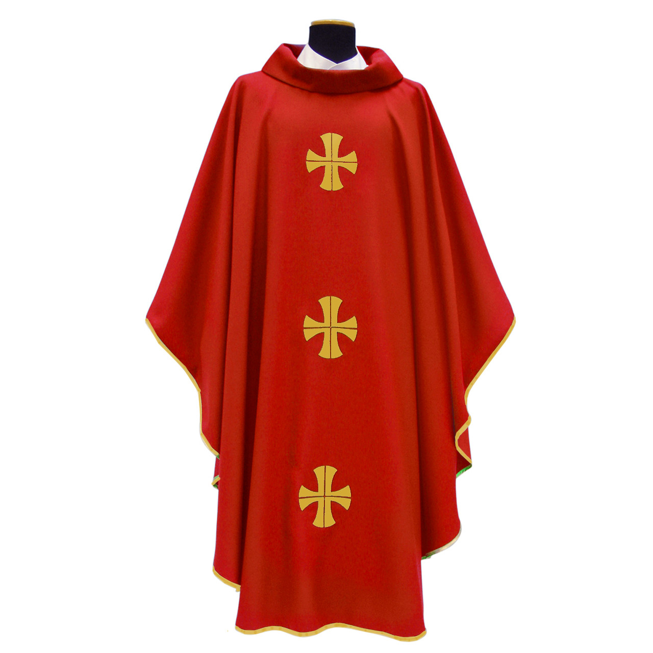 318 Chasuble in Monastico Fabric Red