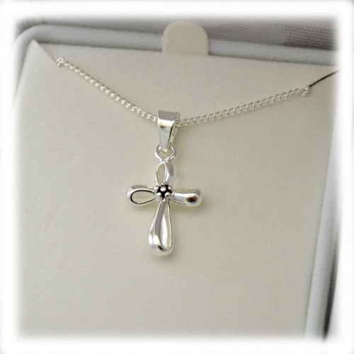 First Communion Infinity Cross Necklace