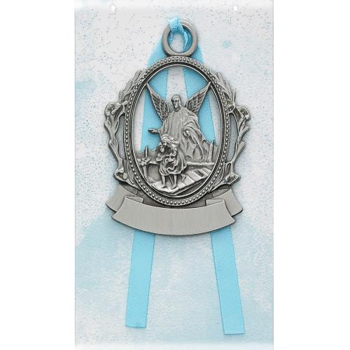 Engravable Pewter Crib Medal