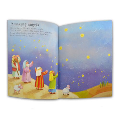 Inside page of the Nativity Sticker Book