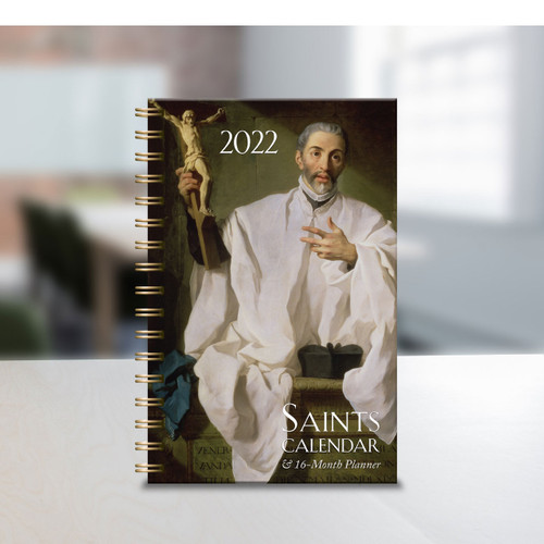 Saints Calendar and Daily Planner 16 month