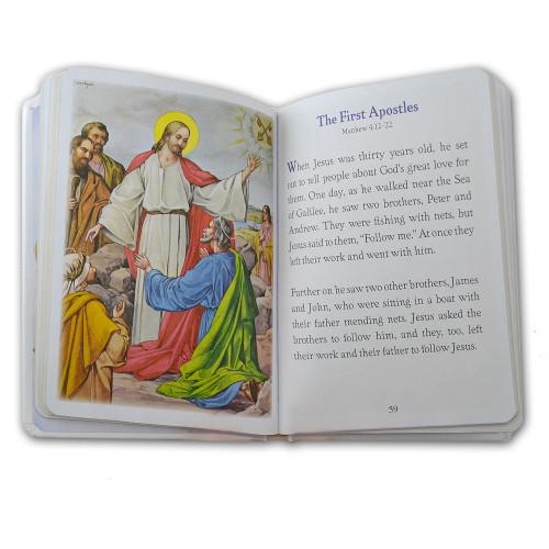 A Catholic Child's Girls First Communion Bible