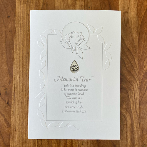 Sympathy Card with Memorial Tear Pin