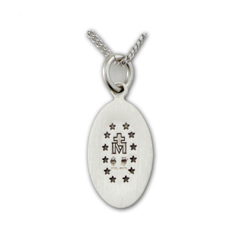 "SS Miraculous Medal Necklace, 18"" Chain"