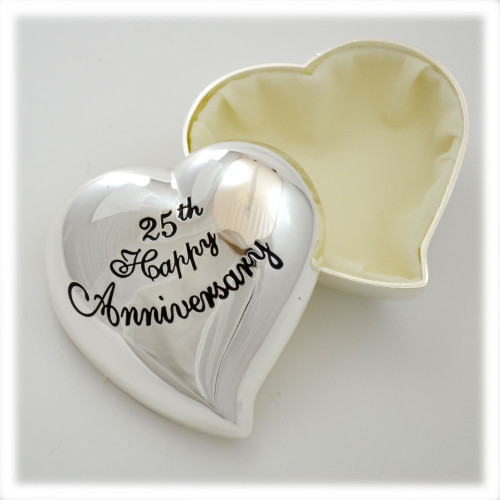 25th Wedding Anniversary Heart Box